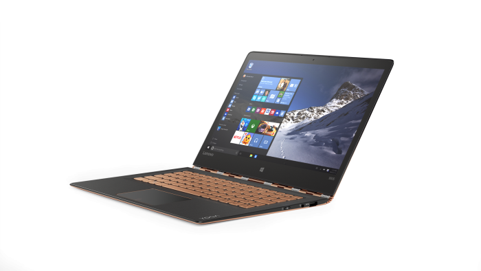 YOGA 900S in Gold_Using Windows 10 in Laptop Mode